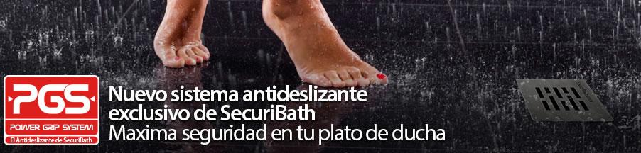 sistema antideslizante para platos de ducha