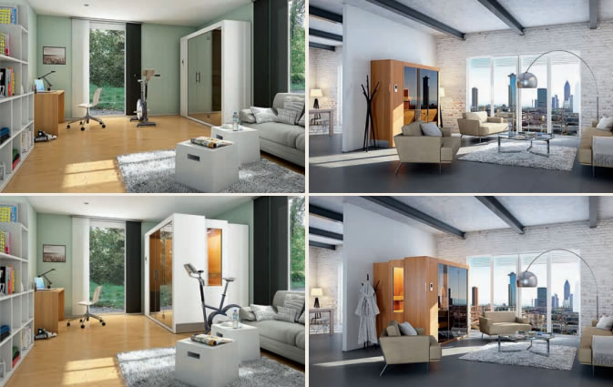 una sauna que se encoge pulsando un bot n sauna klafs s1 aqua. Black Bedroom Furniture Sets. Home Design Ideas