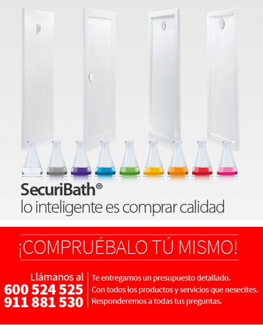 platos de ducha de calidad Securibath