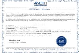 Securibath recibe el sello de calidad ANERR
