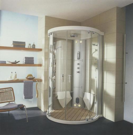 sistemas de ducha: cabina de hidromasaje