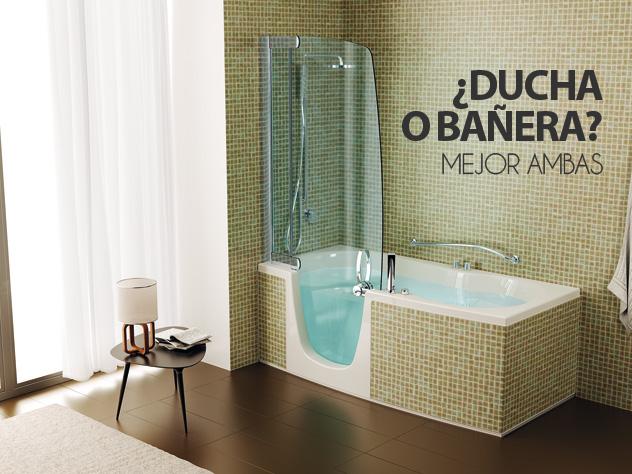 Ducha o ba era elige ambas con la ba era con puerta aqua - Medidas de baneras para banos ...