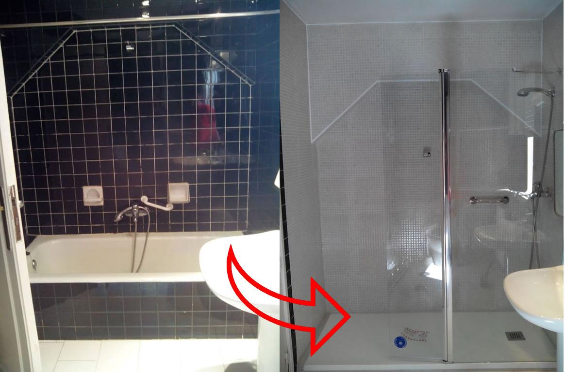 Antes y despu s de un cambio de ba era por plato de ducha - Quitar banera y poner plato de ducha ...
