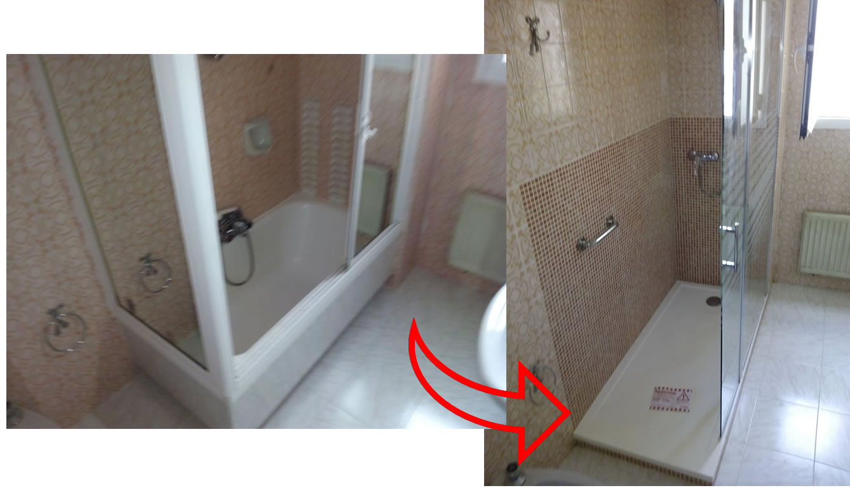 Antes y despu s de un cambio de ba era por plato de ducha for Cambiar vastago de ducha