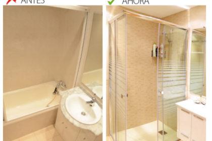 cambiar una bañera por un plato de ducha