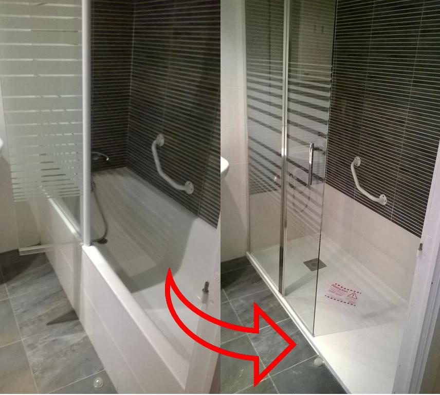 Antes y despu s de un cambio de ba era por plato de ducha for Banera plato de ducha