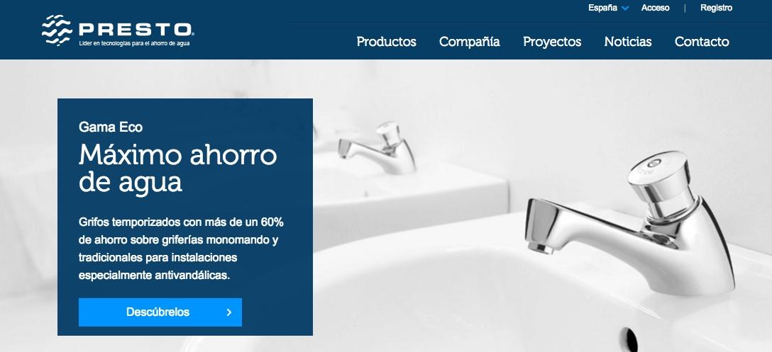 ahorro de agua con Presto Ibérica