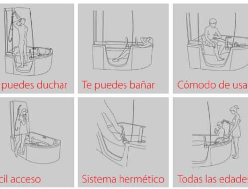 Recomendaciones para instalar una bañera con puerta
