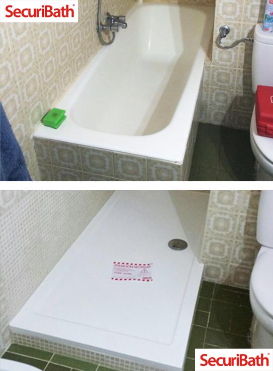 obras de cambio de bañera por ducha