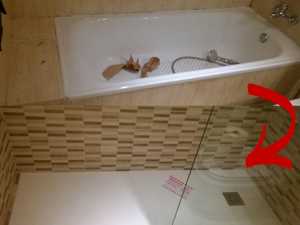 Mira nuestras obras de cambio de ba era por ducha - Banera ninos para ducha ...