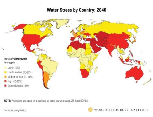 Una quinta parte del planeta sufrirá la falta de agua en 2040