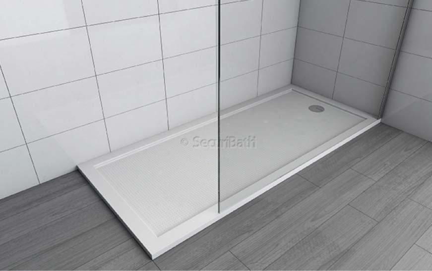 Gama de platos de ducha de fibra de vidrio de securibath - Plato de ducha de silestone ...