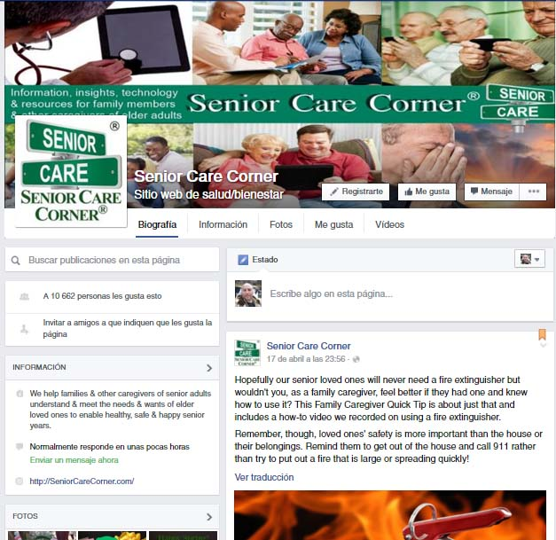redes sociales para la tercera edad Senior Care Corner