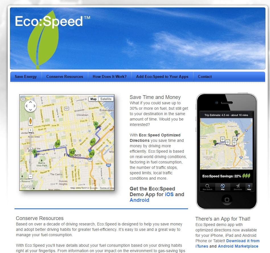 apps para mejorar el planeta: Eco Speed