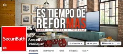 redes sociales de SecuriBath: Facebook