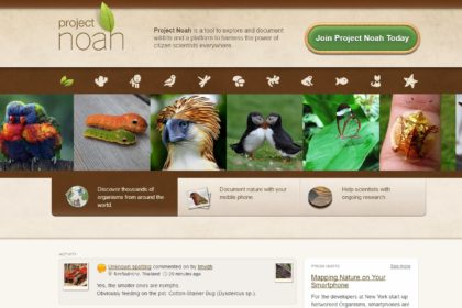 apps para mejorar el planeta: Project Noah