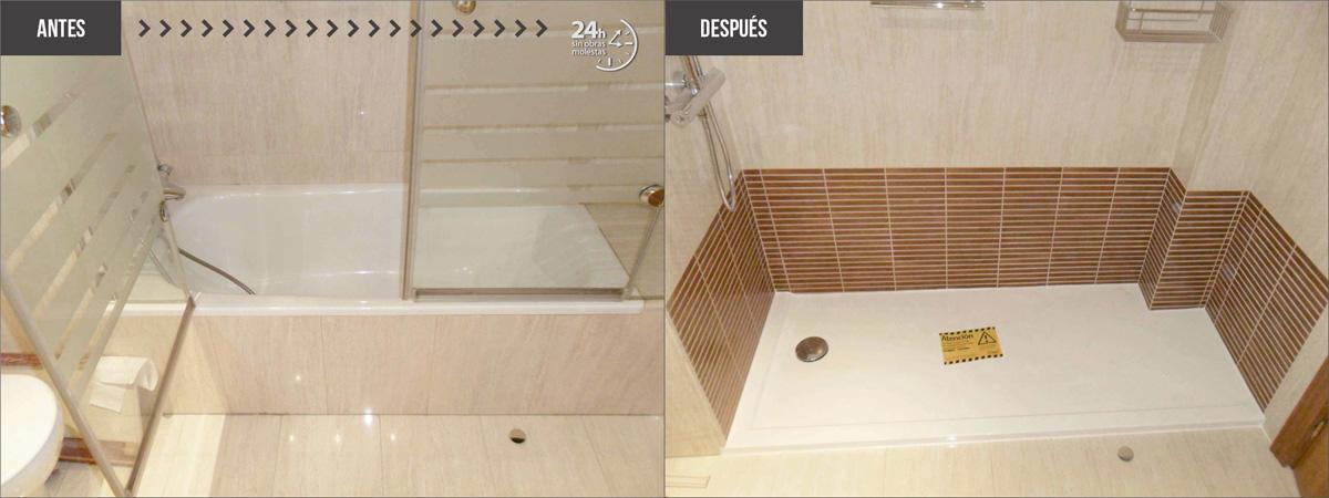 Cambiar ba era por ducha as es el antes y el despu s - Cambiar banera por ducha ...