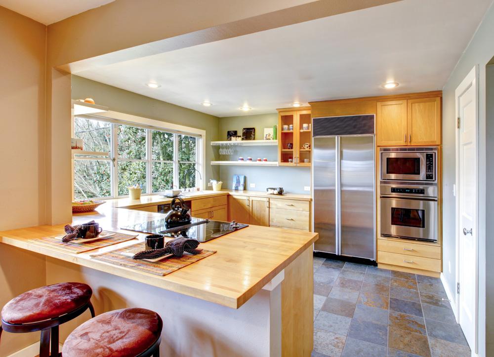 Qu prefieres cocinas con barra americana o isla central - Barra americana para cocina ...