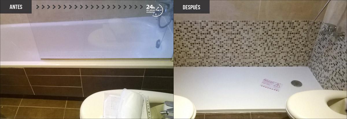 Cambiar ba era por ducha as es el antes y el despu s for Cambiar vastago de ducha