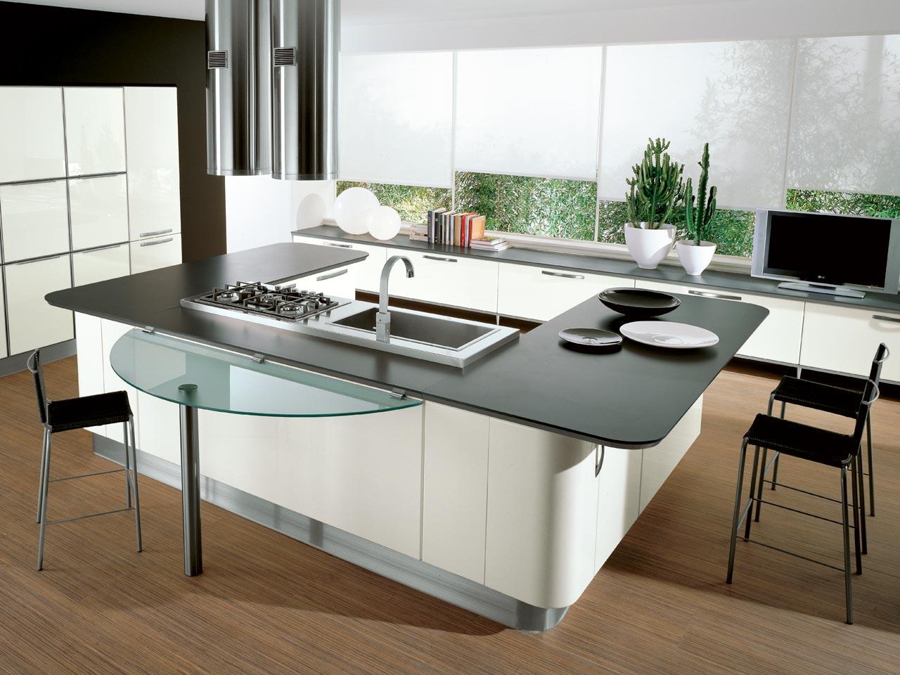 Reformas cocina integral qu prefieres cocinas con barra americana o isla central aqua - Cocinas de isla modernas ...