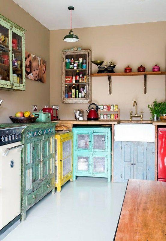 Reformas de cocina con estilo Vintage - aqua
