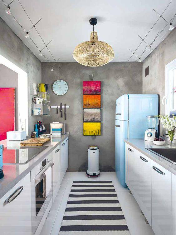 Reformas de cocina con estilo vintage aqua - Cocinas retro vintage ...