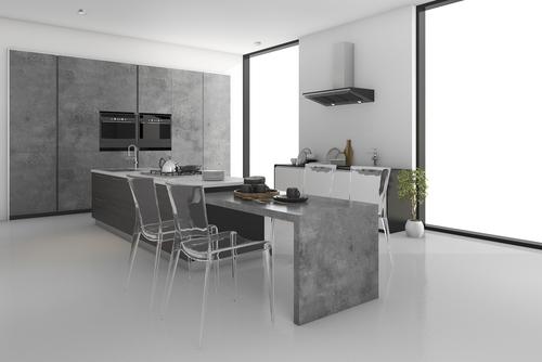 Reformar la cocina con microcemento aqua - Microcemento en cocinas ...