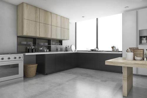 Reformar la cocina con microcemento aqua - Microcemento sobre azulejos ...
