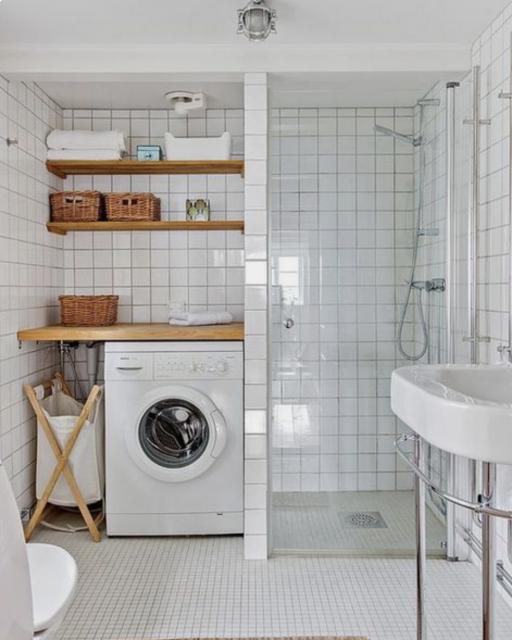 cambiar bañera por lavadora