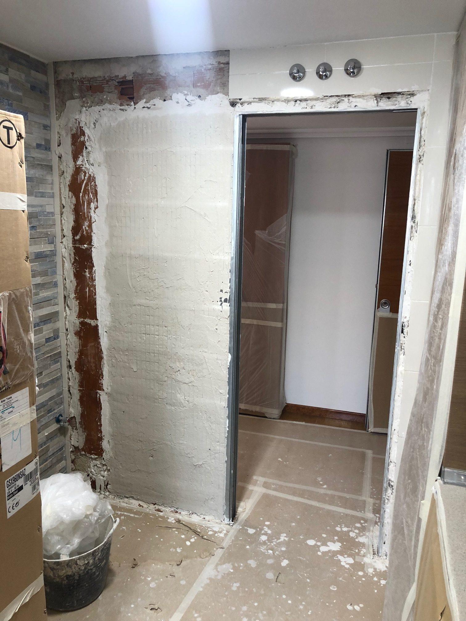 Instalar puerta corredera casoneto met lico for Instalar puerta corredera