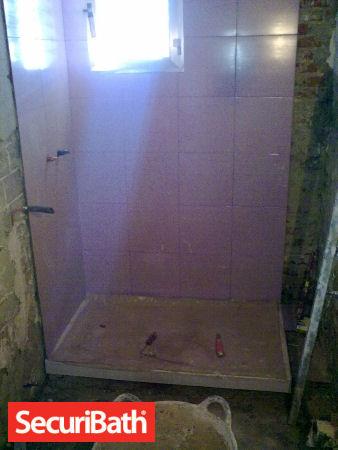 plato ducha reforma baño securibath