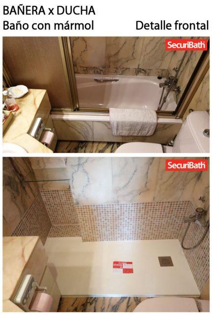 Bañera x ducha - Detalle frontal 1