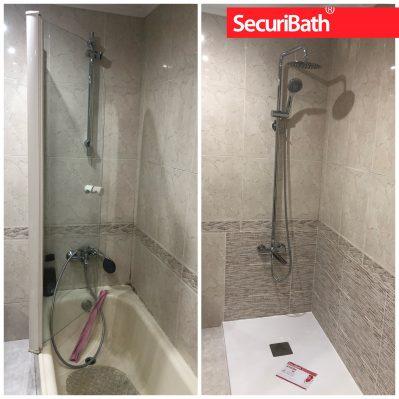 Aprovecha para dar a tu ducha un aire nuevo con una columna de ducha con rociador de lluvia y teleducha móvil