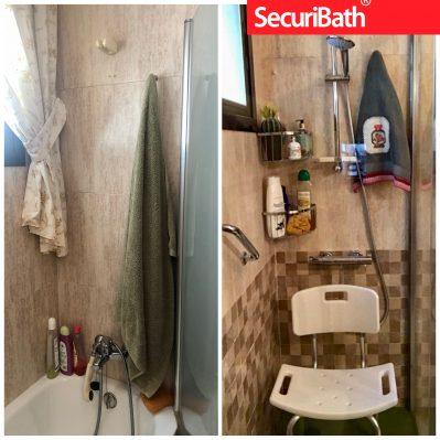 Subir tomas de grifo para ducha y colocación de grifo temostático - SecuriBath Solutions
