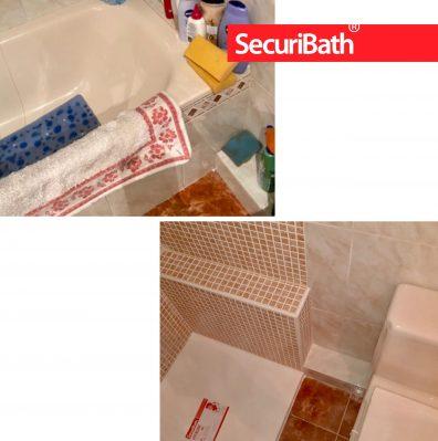 Solución con mocheta de ocultación del manguetón del inodoro - SecuriBath Solutions